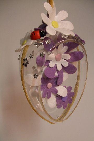 Artemarket decorazioni per la pasqua l uovo con i fiori - Decorazioni uova pasquali per bambini ...
