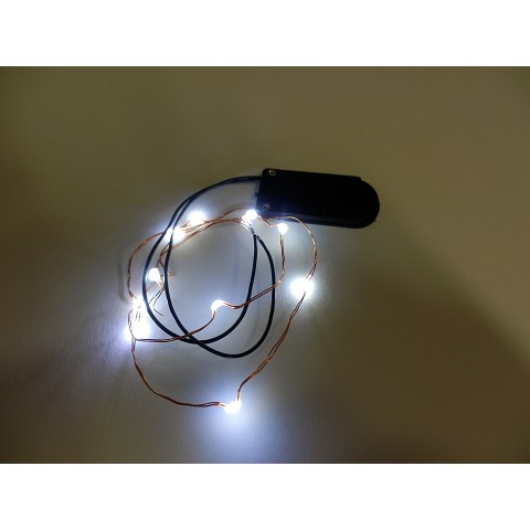 Artemarket luci a batteria microluci a led colore bianco a for Vendita led online