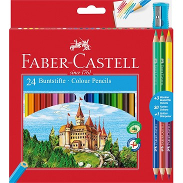 Faber Castell 110324 Matite Colorate Eco