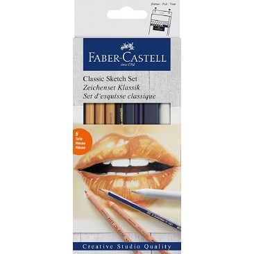 Faber Castell 114004 Classic Sketch Set