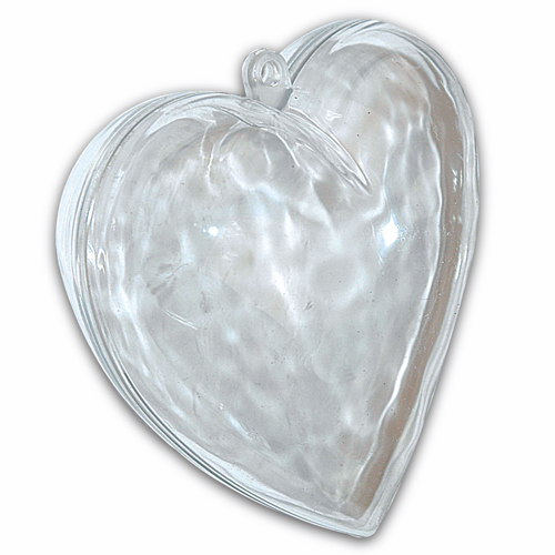 Artemarket cuore divisibile in plexiglass palle di natale for Forme in plexiglass