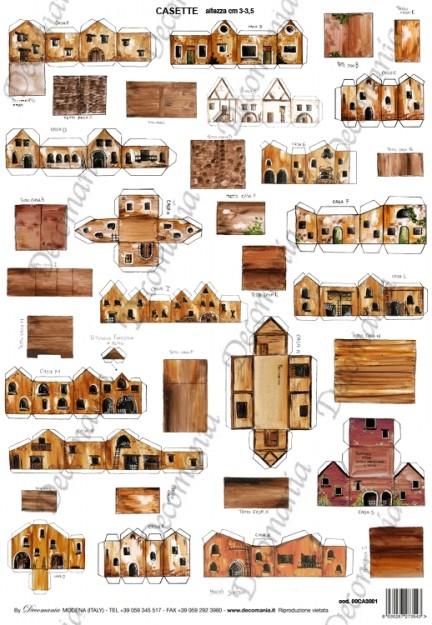 Artemarket casette da ritagliare natale casette da for Modelli di case piccole